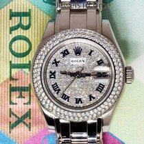 Rolex Pearlmaster 29mm 18k White Gold & Diamond Ladies Watch...