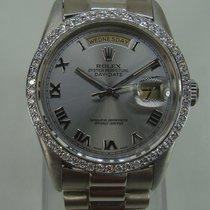 Rolex Day-Date 36 White gold 36mm Silver Thailand, Khon kaen