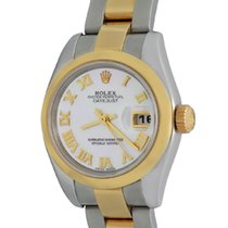 Rolex Lady-Datejust Staal 26mm Parelmoer Romeins