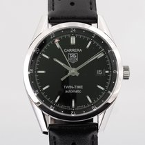 TAG Heuer Carrera Calibre 7 Steel 39mm Black No numerals