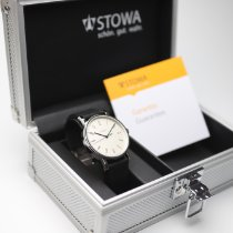 Stowa new Manual winding Display Back Center Seconds Blue Steel Hands Only Original Parts 39mm Steel Sapphire Glass