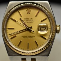 Rolex Datejust Oysterquartz Gold/Steel 36mm Gold No numerals