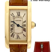 Cartier Tank Américaine Yellow gold 19mm White Roman numerals United States of America, New York, Huntington Village