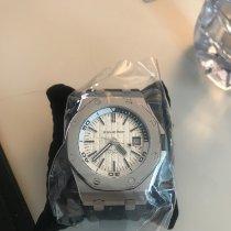 Audemars Piguet Royal Oak Offshore Diver gebraucht 42mm Silber Datum Kautschuk