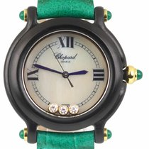 Chopard Plastic Quartz Mother of pearl 32mm pre-owned Happy Diamonds