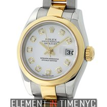 Rolex Datejust Lady 26mm Steel & Yellow Gold White Diamond...