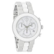 Movado Ladies Cerena White Dial Ceramic Swiss Quartz Watch...
