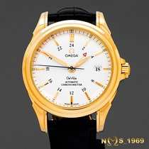 Omega De Ville Co-Axial GMT 18K  Gold Automatic Box & Papers