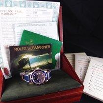 勞力士 (Rolex) SUBMARINER 16618 18k Yellow Gold with Blue Dial...