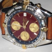 Breitling Chronomat Automatic Chronograph 18K Gold Diamonds