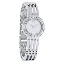 Movado Esperanza Mini Diamond Ladies Mop Stainless Steel Watch...