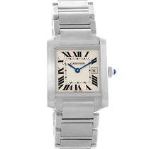 Cartier Tank Francaise Midsize Steel Women's Watch W51011q3