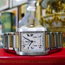Cartier Tank Francaise Chronograph 18k Gold/ss Ref:2303 Large...