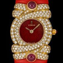 Corum nowość Kwarcowy Zegarek wysadzany kamieniami szlachetnymi 22mm Żółte złoto Szkiełko szafirowe