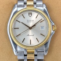 Tudor Monarch Gold/Steel 36mm Silver No numerals