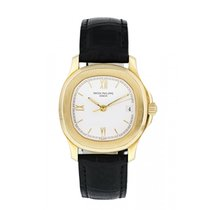 Patek Philippe Yellow gold Automatic White 35mm pre-owned Aquanaut