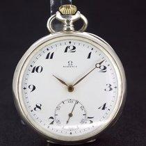 Omega Taschenuhr Massiv Silber aus 1916 Super Zustand