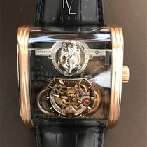 Cabestan Or rose Remontage manuel Triple Axis Tourbillon nouveau