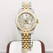 Rolex Lady-Datejust 179173 Silver Index Dial Box & Papers...