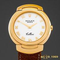Rolex Cellini Жёлтое золото 33 mm casemm Белый Римские