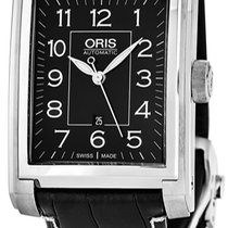 Oris Rectangular Steel Black United States of America, New York, Brooklyn