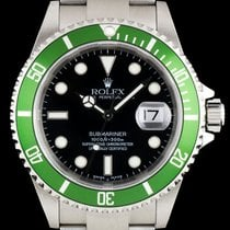 Rolex Submariner Date Green Bezel Flat 4 16610LV