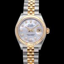 Rolex Lady-Datejust Жёлтое золото 28mm Перламутровый