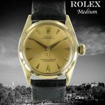 Rolex Oyster Perpetual 31 gebraucht 31mm Gold Leder
