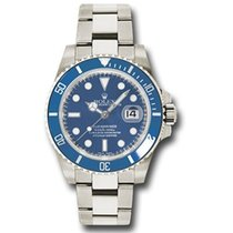 Rolex Submariner Date Witgoud 40mm Blauw