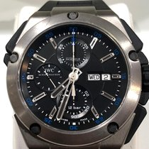 IWC Ingenieur Double Chronograph Titanium Titan 45mm Negru Fara cifre