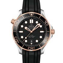 Omega Seamaster Diver 300 M Gold/Steel 42mm Black No numerals United States of America, Georgia, Alpharetta