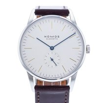 NOMOS Orion 38 pre-owned 38mm White Leather