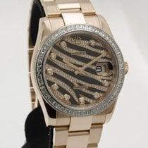 Rolex Datejust Ροζέ χρυσό 36mm Xωρίς ψηφία