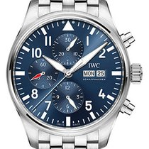 IWC Pilot Chronograph Steel 43mm Blue Arabic numerals United States of America, New York, New York