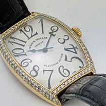 Franck Muller Yellow gold Automatic Silver Arabic numerals 34mm pre-owned Cintrée Curvex
