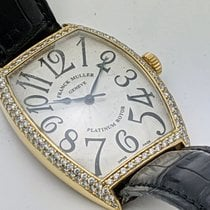 Franck Muller Cintrée Curvex Yellow gold 34mm Silver Arabic numerals United States of America, Texas, El Paso