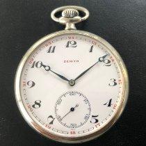 Zenith White metal Pocket watch, 48mm, Breguet type blued hands occasion