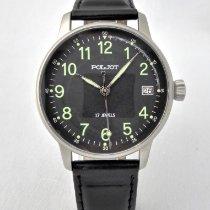 Poljot Steel Manual winding Black Arabic numerals 36mm new
