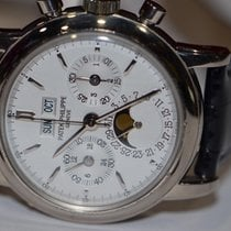 Patek Philippe White gold Manual winding White No numerals 36mm pre-owned Perpetual Calendar Chronograph