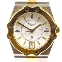 Chopard St. Moritz Goud/Staal 23mm Wit Romeins