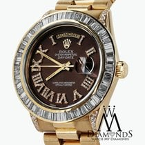 Rolex President 18kt Yellow Gold Day-date Brown Dial Diamond...