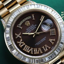 Rolex Yellow gold Automatic Brown 36mm pre-owned Day-Date 36