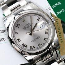 Rolex Datejust 36mm Steel Rhodium (silver) Roman Dial Oyster...