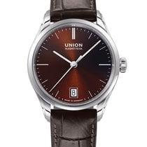 Union Glashütte Viro Date Steel 34mm Brown No numerals