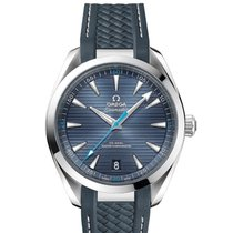 Omega Aqua Terra Blue Dial Rubber Strap Mens Watch 220.12.41.2...
