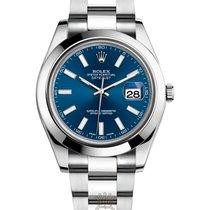 Rolex Datejust 41 mm Stainless Steel Ref. 126300-blue