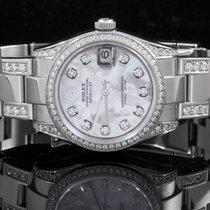 Rolex 178274 SS Datejust w/ MOP Diamond Dial & Diamond Band