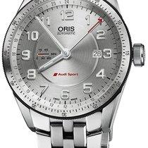 Oris Audi Sport Steel 44mm Silver Arabic numerals