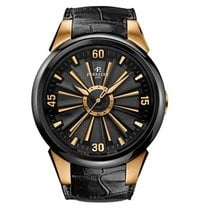 Perrelet Rose gold Automatic Black No numerals 44mm new Turbine (submodel)