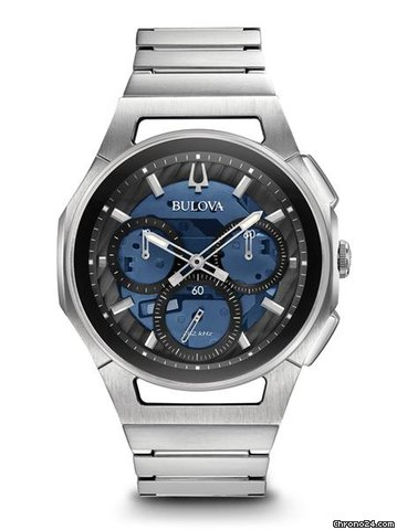 f56774222 Bulova 96A205 Curv Chronograph men blue dial 44mm for $689 for sale from a  Trusted Seller on Chrono24